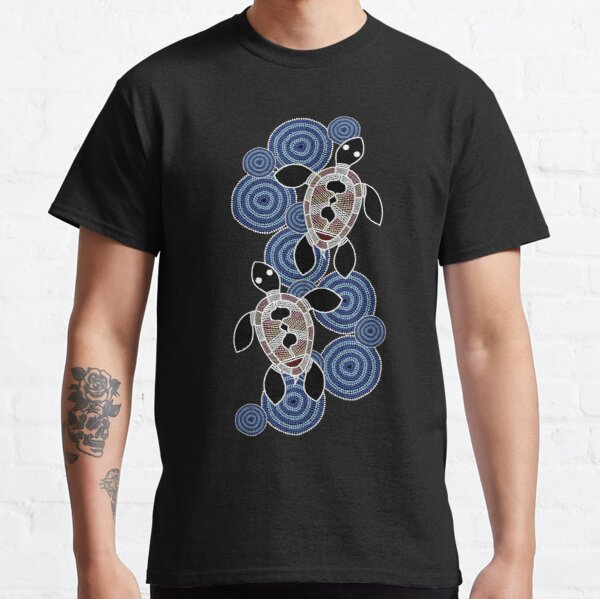 Authentic Aboriginal Art - Sea Turtles Classic T-Shirt