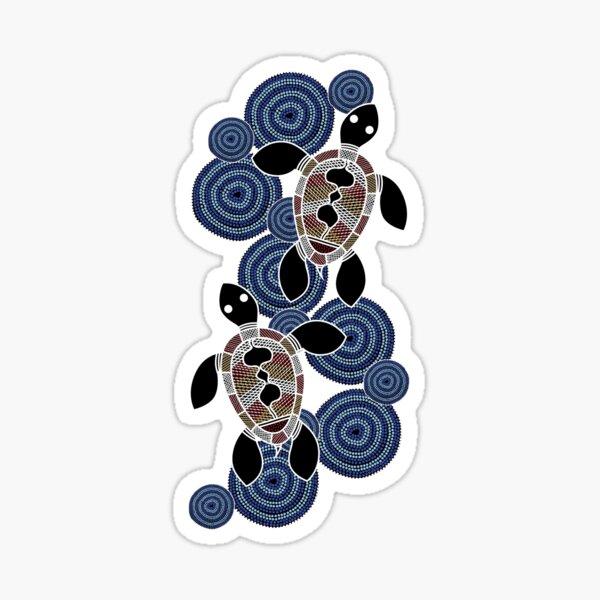 Authentic Aboriginal Art - Sea Turtles Sticker