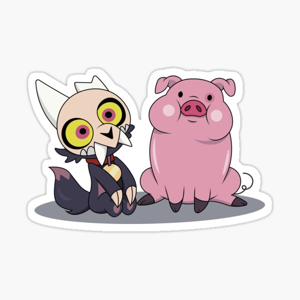 King and Waddles Sticker