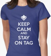 Guild Wars - Keep Calm and Stay on Tag Womens Fitted T-Shirt