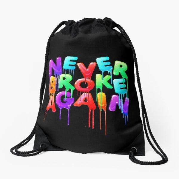 Never Broke Again Drawstring Bag