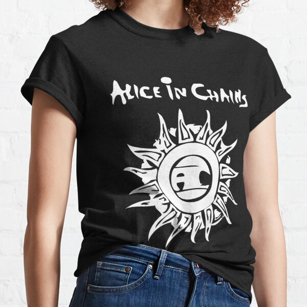 Mujer Alice In Chains Logo Camiseta clásica