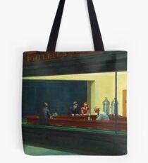 Vintage Edward Hopper Nighthawks Diner Tote Bag