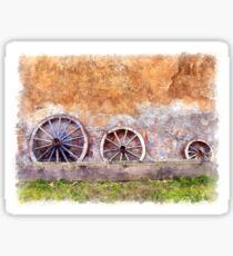 Wagon wheels Sticker