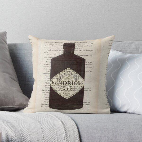 Hendrick's Gin Print, Gin Print, Book Page Print, Drawing, Gin Art, Gin Illustration, Illustration, Botanical, Print, Wall Art  Throw Pillow