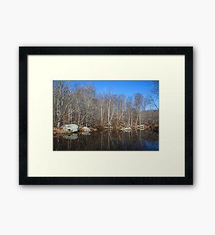 Early Winter Creek Framed Print