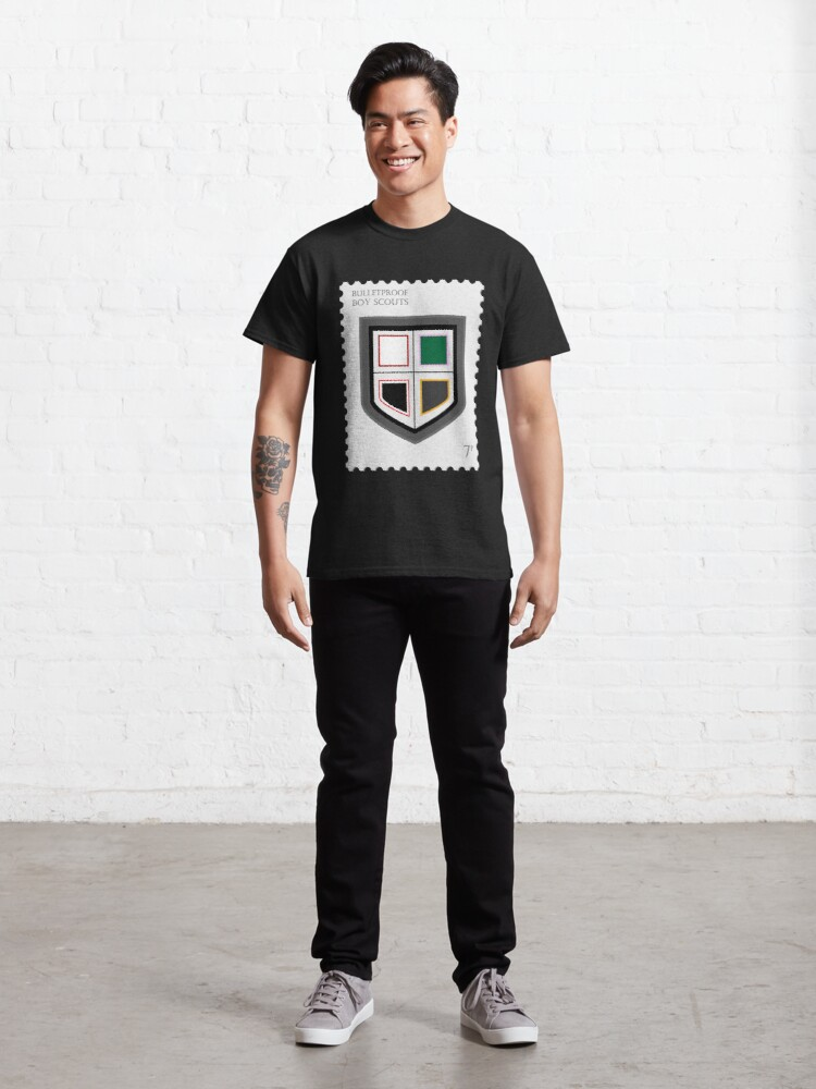 Alternate view of BTS Bulletproof Stamp Classic T-Shirt