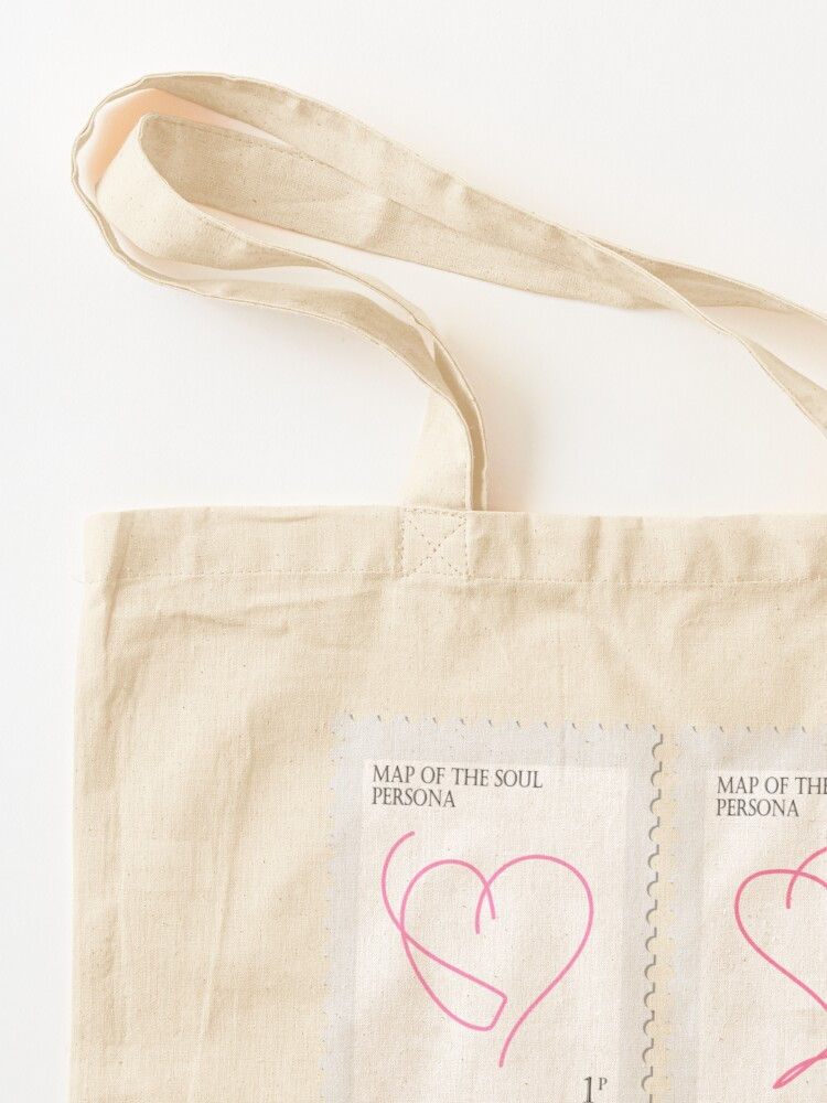 Alternate view of BTS Map of the Soul Persona Stamp Tote Bag
