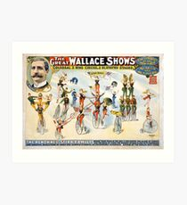 Vintage Circus Act The Great Wallace Shows Art Print
