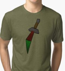 Dragon Dagger Print Tri-blend T-Shirt
