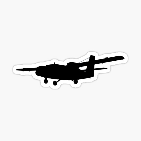 DHC-6 Twin Otter Silhouette Sticker