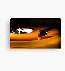 The Orange Turntable Canvas Print