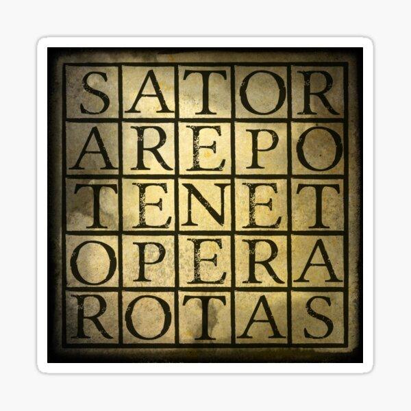 SATOR Square Sticker