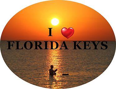 I Love the Florida Keys Sunset