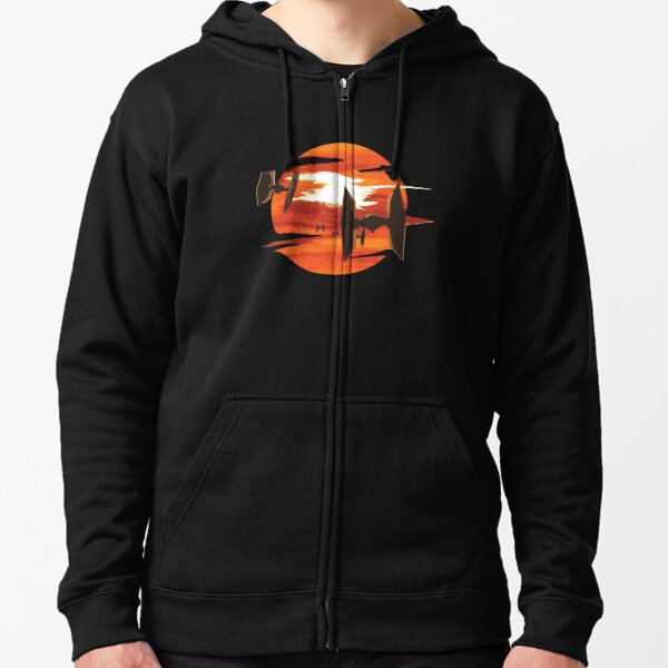 Ride of the Tie fighters Zipped Hoodie