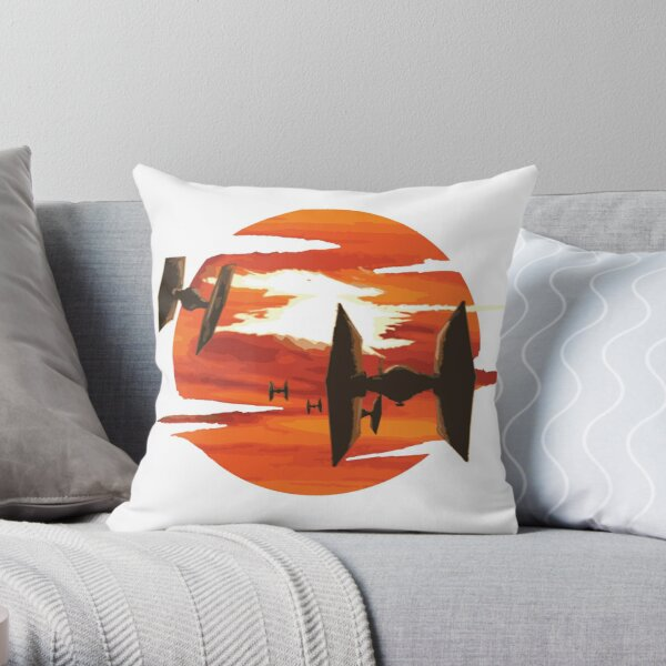 Ride of the Tie fighters Throw Pillow