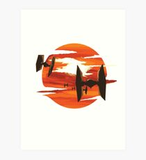 Ride of the Tie fighters Art Print