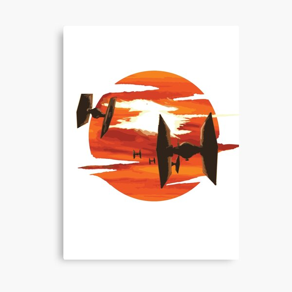 Ride of the Tie fighters Canvas Print