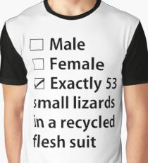 No Gender, Only Lizards Graphic T-Shirt