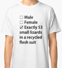No Gender, Only Lizards Classic T-Shirt