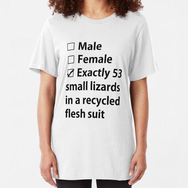 No Gender, Only Lizards Slim Fit T-Shirt