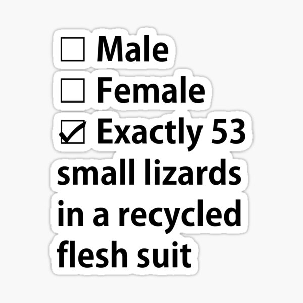 No Gender, Only Lizards Sticker