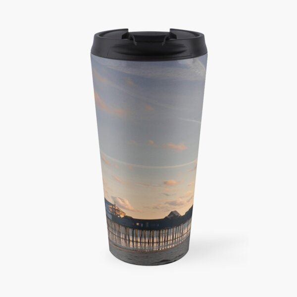 Old Orchard Beach Pier Maine Travel Mug