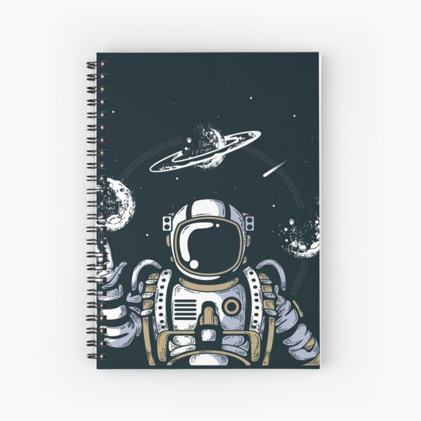 Spaceman on the Space Spiral Notebook