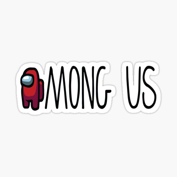 AMONG US red crewmate sticker one of among us characters Sticker