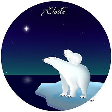 Polar bear, polar star by mariegib