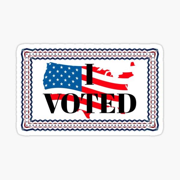 I Voted Stickers Sticker