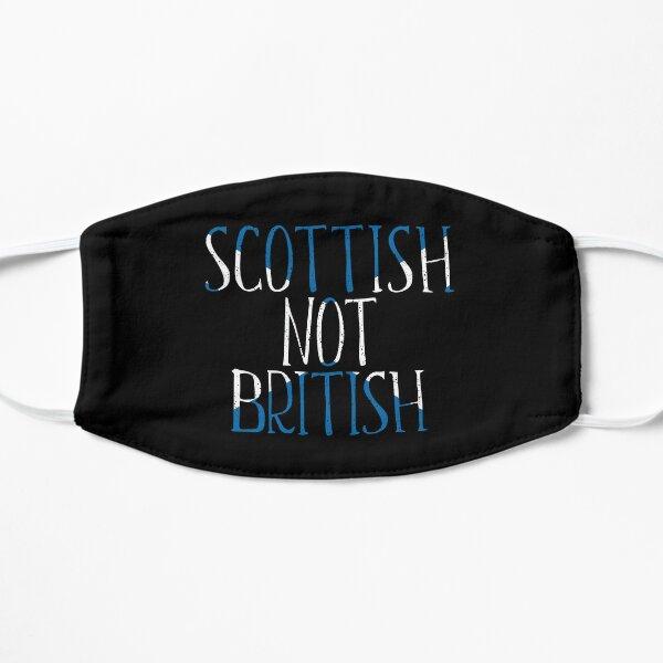 SCOTTISH NOT BRITISH, Scottish Independence Saltire Flag Text Slogan Flat Mask