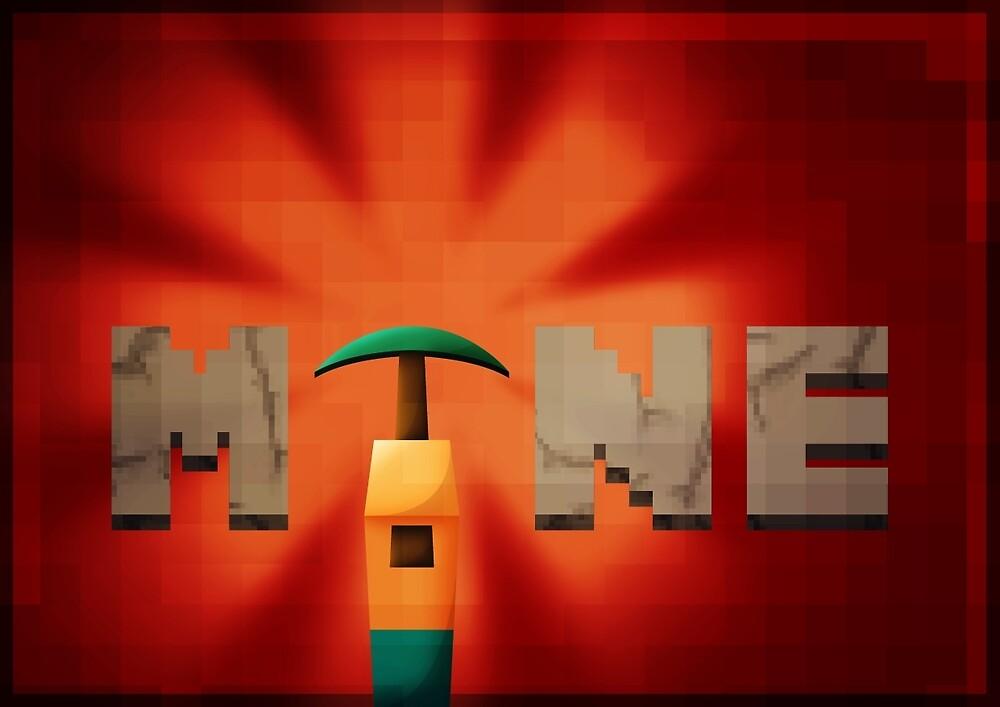 Minecraft propaganda poster (clean) by samdesigns