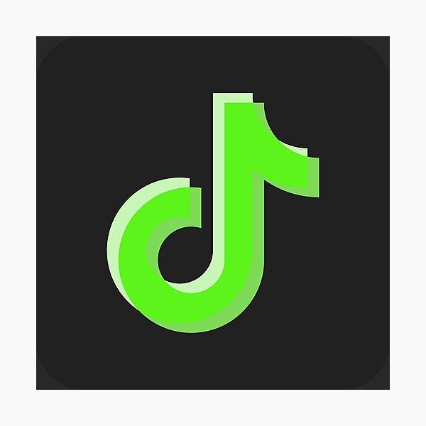Green Tiktok Logo Photographic Prints | Redbubble