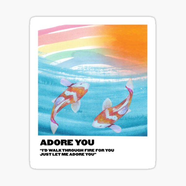 adore you polaroid Sticker