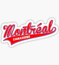 Montreal red script Sticker