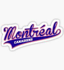 Montreal blue script Sticker