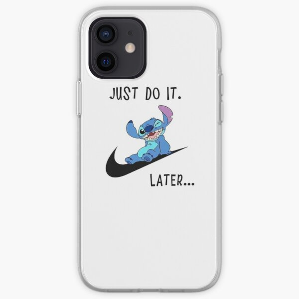Stitch lilo Lazy Just Do It Later Comics iPhone Soft Case