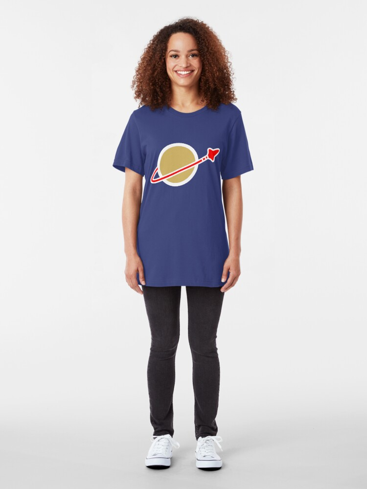Alternate view of Lego Space! Slim Fit T-Shirt