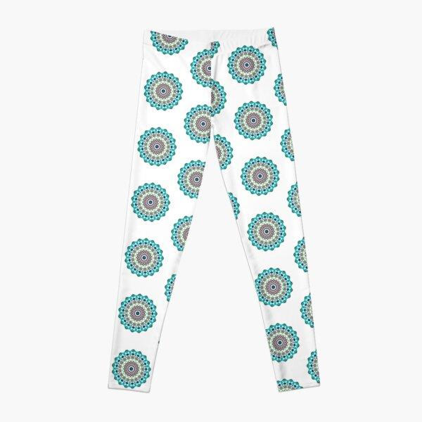 Multi Color Floral Mandala Leggings