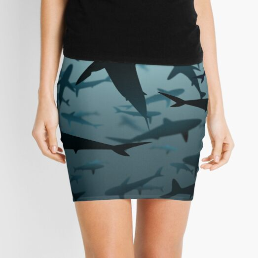 Sharks, Lots and Lots of Sharks Mini Skirt