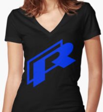 VW R Logo Women's Fitted V-Neck T-Shirt