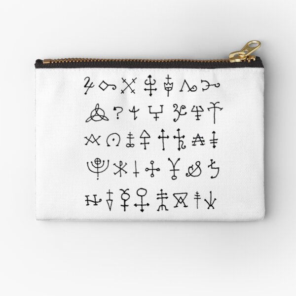 Alchemy Symbols - Ancient Zipper Pouch