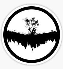 Urban Faun - Black on White Sticker