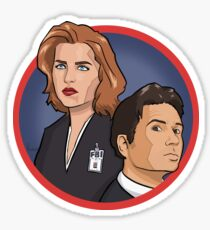 Mulder and Scully - The X-Files Sticker
