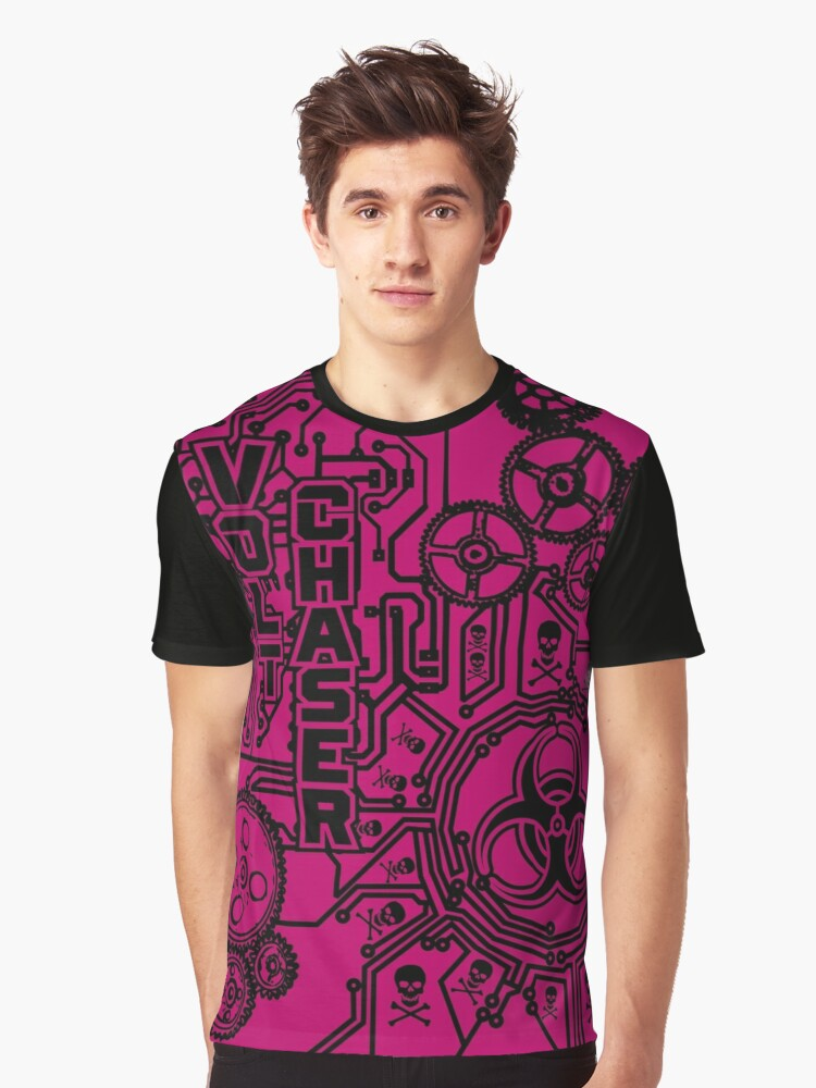 Volt Chaser (pink) Graphic T-Shirt Front