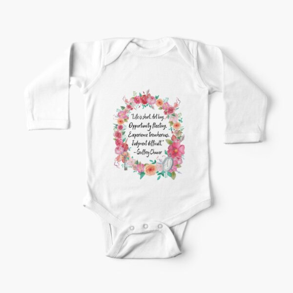 Life is Short Long Sleeve Baby One-Piece