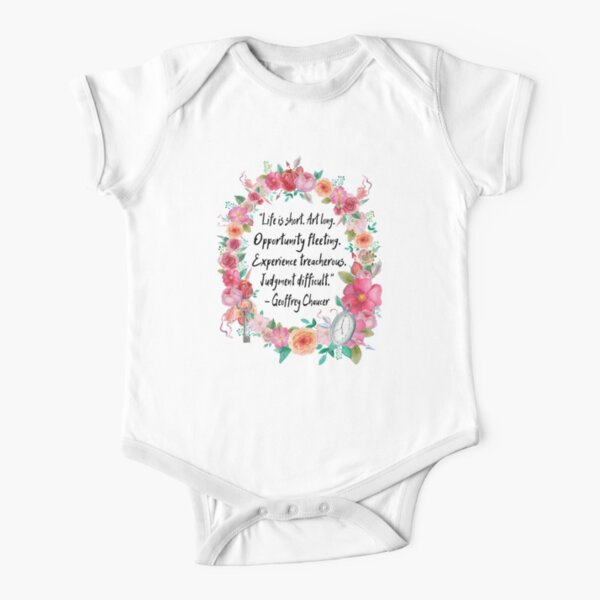 Life is Short Short Sleeve Baby One-Piece