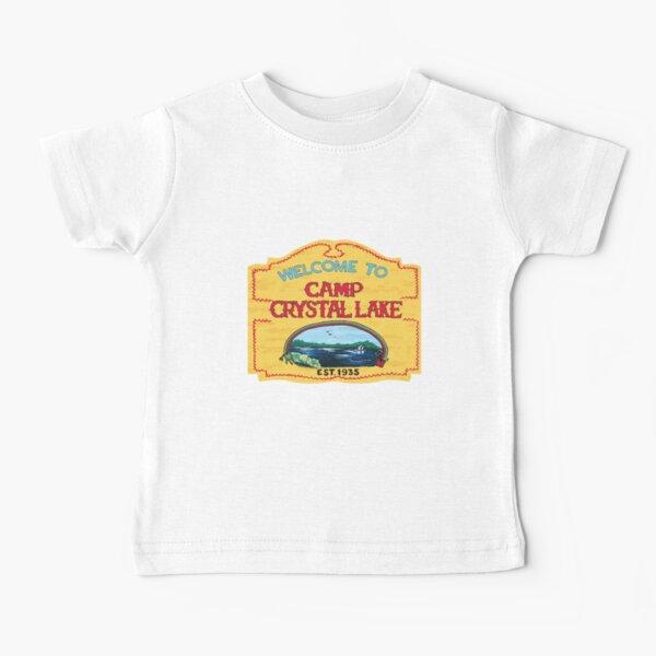 Camp Crystal Lake Funny Horror Movie Fan Humor Joke Baby T-Shirt