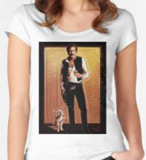 Ron Burgundy Han Solo Women's Fitted Scoop T-Shirt